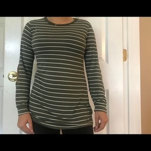 Tops - Striped Boutique Green and White Top